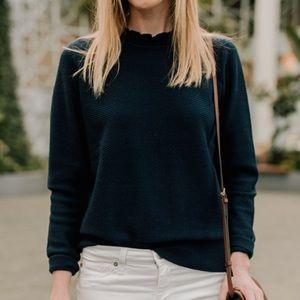 ✨ J. Crew Ruffle Neck Pullover Sweater ✨
